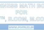 'BUSINESS MATH BOOK in Hindi as well in English' 'BUSINESS MATH BOOK for B.COM M.COM MBA BBA'