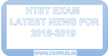 'HTET exam latest news for exam and syllabus 2018-2019' 'HTET exam latest update'