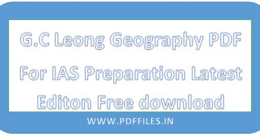 ' G.C Leong Geography PDF ' ' IAS Preparation PDF By G.C Leong ' ' Certificate Physical And Human Geography PDF '