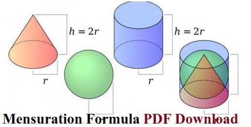 ' mensuration formula ' ' mensuration formula pdf '
