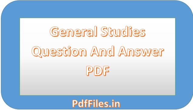 ' General Studies PDF '