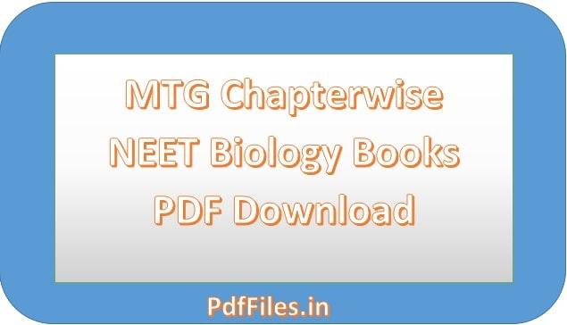 ' MTG NEET BIOLOGY BOOK PDF ' ' NEET BIOLOGY PDF '