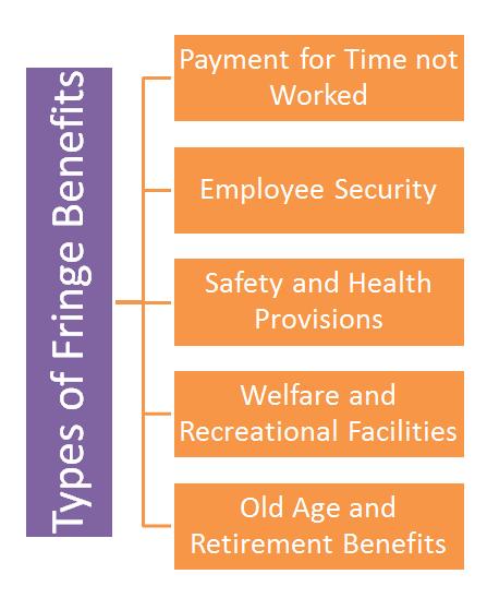 ' Types of Fringe Benefits ' ' Fringe Benefits '