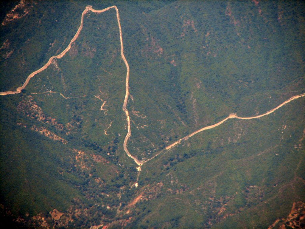 ' satellite image of great wall of china ' ' Great wall of china '