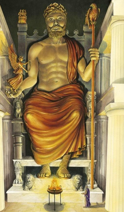 ' statue of zeus ' ' Statue of Zeus at Olympia '