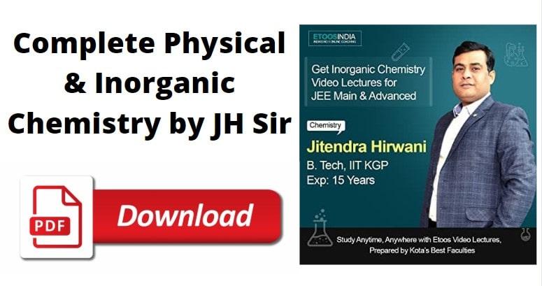' etoosindia ' ' Physical & Inorganic Chemistry ' ' JH Sir '