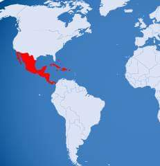 ' Mexico Location in Map ' ' Mexico Location '