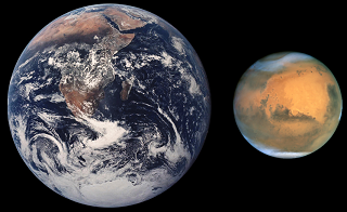 ' Mars Earth Comparison ' ' Mars Planet '